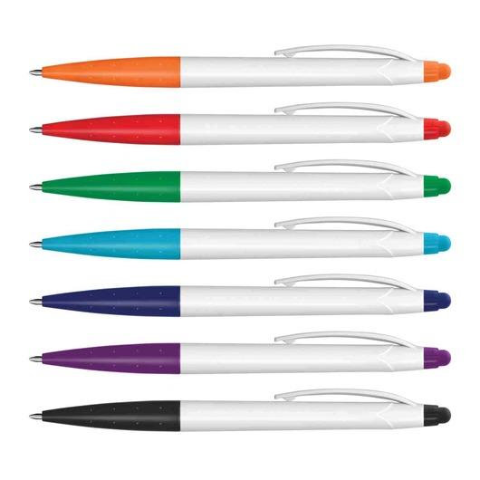 White Barrel Edison Stylus Pens