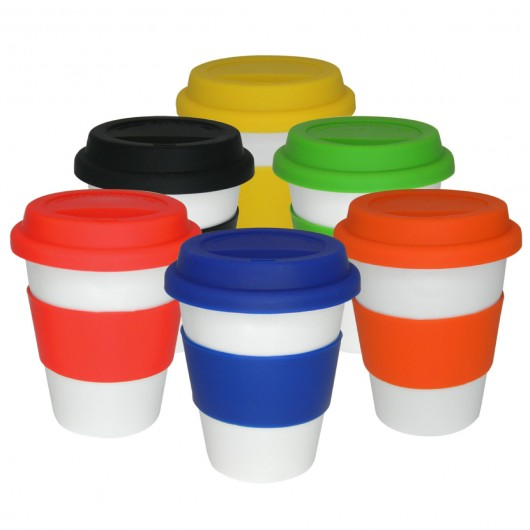 Group White Ceramic Cups