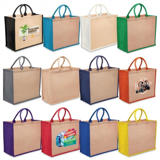Group Wide Gusset Eco Jute Bags