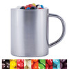 Assorted Mini Jelly Beans in Stainless Steel Mugs
