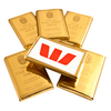 Personalised Gold Chocolate Bars
