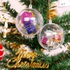 Clear Plastic Ornaments Xmas