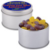 Corporate Colour Mini Jelly Beans in Silver Round Tins