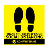 Social Distancing Pavement Stickers
