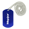 Dog Tag Necklaces blue