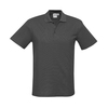 Mens Crew Polo Black Charcoal