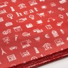 Red Printed Tissue Paper