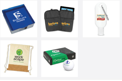 Examples of merchandise printed